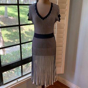BCBG MAXAZRIA Striped Dress